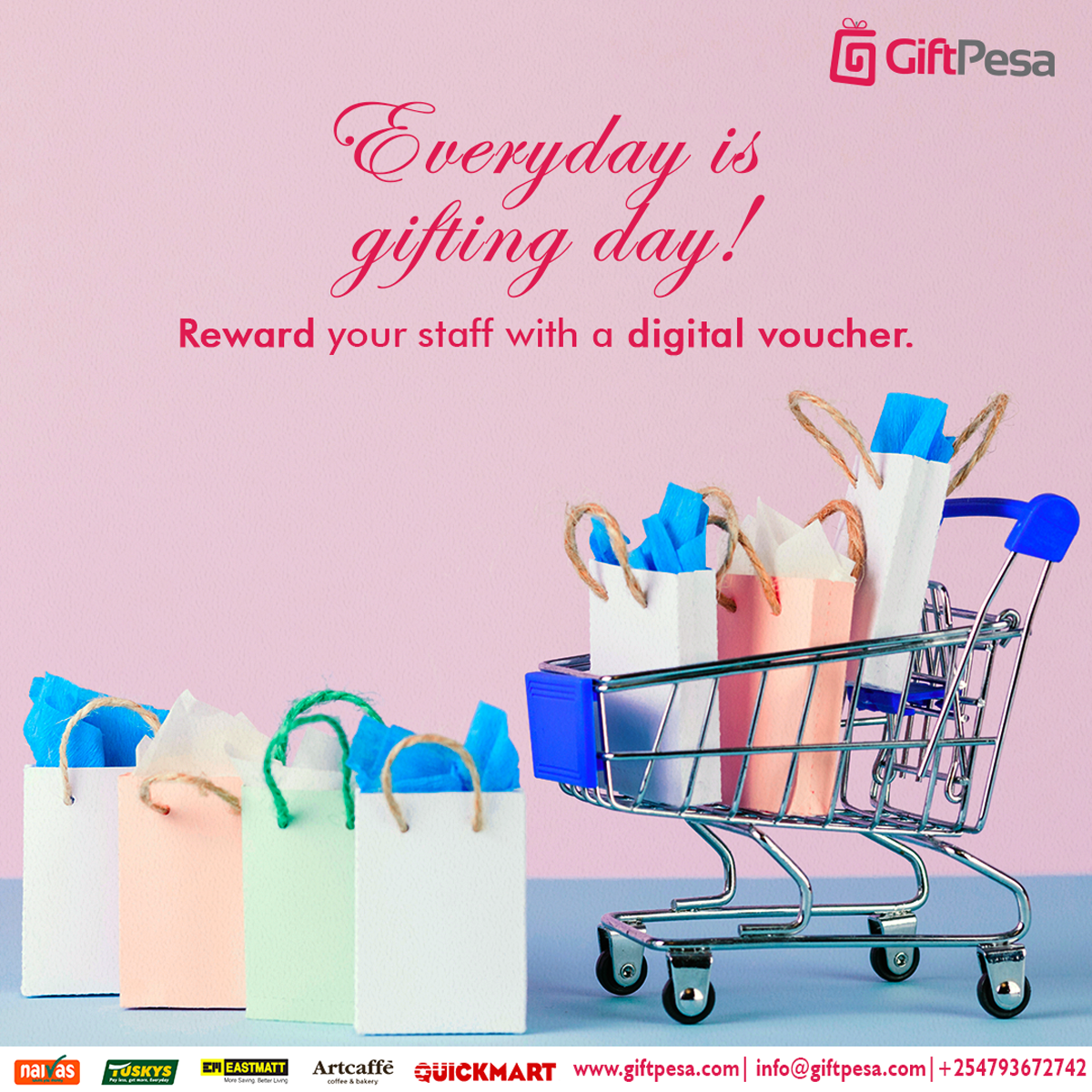 Shopping with a digital voucher
