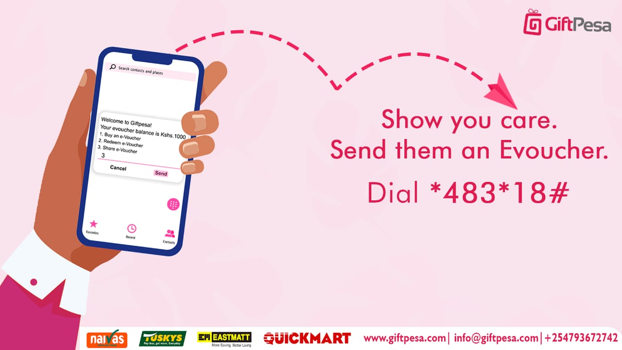 to show hoe giftpesa digital voucher works