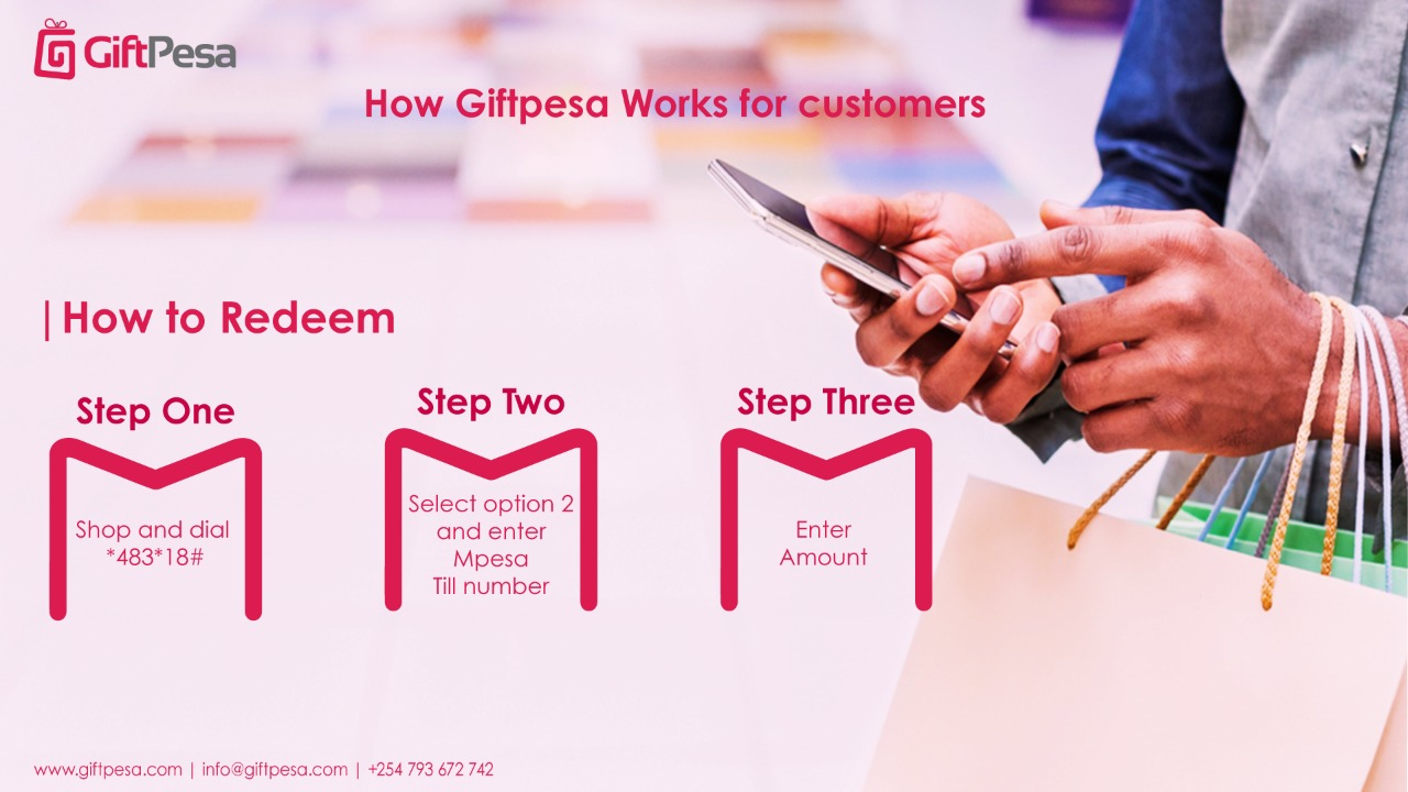 How to redeem or share giftpesa e-voucher
