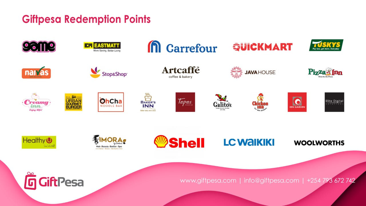 Giftpesa Redemption marketplace